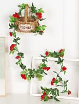 Недорогие -Искусственные Цветы 1 Филиал Классический Modern Пастораль Стиль Розы Вечные цветы Цветы на стену