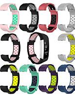 Недорогие -ремешок для зарядки fitbit 2 умные часы замена спортивные двухцветные металлические кнопки дышащие силиконовые ремешки для часов браслет браслет