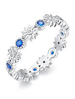 Недорогие -Новое прибытие оптом дешевые популярные цветок палец стерлингового серебра 925 кольцо мода свадебные украшения 3 размер