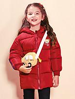 Недорогие -Дети (1-4 лет) Девочки Активный Геометрический принт С принтом Обычная На пуховой / хлопковой подкладке Розовый
