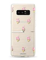 Недорогие -Кейс для Назначение SSamsung Galaxy S9 / S9 Plus / S8 Plus Защита от пыли / Ультратонкий / Полупрозрачный Кейс на заднюю панель Продукты питания / Мультипликация ТПУ