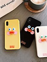Недорогие -чехол для apple iphone xs max / iphone 8 plus пылезащитный / задняя крышка с рисунком 3d мультфильм тпу для iphone 7/7 plus / 8/6/6 plus / xr / x / xs