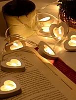 Недорогие -1.2 м сердце гирлянда 10 светодиодов теплый белый валентин романтический декоративный 5 В 1 компл.