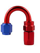 Недорогие -Переходной патрубок поворотного патрубка an4 для шланга 180 для масла / топлива / газа