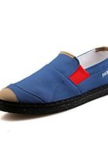 Недорогие -Муж. Легкие подошвы Полотно Лето Мокасины и Свитер Красный / Синий / Серый