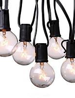 Недорогие -7м Гирлянды 25 светодиоды Тёплый белый Декоративная 220-240 V 1 комплект