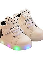 Недорогие -Мальчики Обувь с подсветкой Полиуретан Спортивная обувь Маленькие дети (4-7 лет) Белый / Черный / Розовый Лето