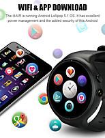Недорогие -i4 air 2g16g 2.0mp камера smart watch wifi gps монитор сердечного ритма мода тпу ремешок смотреть телефон - серебристый корпусчерный
