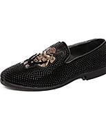 Недорогие -Муж. Комфортная обувь Микроволокно Весна лето Мокасины и Свитер Черный / Белый