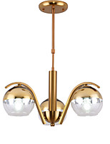 Недорогие -JSGYlights 3-Light кластер / Оригинальные / перевернутый Люстры и лампы Потолочный светильник Электропокрытие Металл Стекло Новый дизайн 110-120Вольт / 220-240Вольт