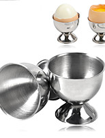 Недорогие -Держатель для яиц из нержавеющей стали яйцо чашка вареное яйцо подставка инструменты для хранения кухня гаджет