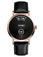 Недорогие -SKMEI Муж. Нарядные часы Кварцевый Современный Стильные Натуральная кожа Черный 30 m Защита от влаги Творчество Новый дизайн Цифровой Мода минималист -  / Один год