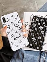 Недорогие -Кейс для Назначение Apple iPhone XS / iPhone XR / iPhone XS Max Ультратонкий / С узором Кейс на заднюю панель Слова / выражения / Мультипликация ТПУ