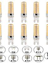 Недорогие -10 шт. 5 W LED лампы типа Корн Двухштырьковые LED лампы 500 lm E14 G9 G4 T 80 Светодиодные бусины SMD 3014 Диммируемая Новый дизайн Тёплый белый Белый 220-240 V 110-120 V