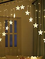 Недорогие -Brelong 8 моделей светодиодные звезды огни строки крытый занавес строки огни открытый водонепроницаемый праздник огней
