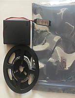 Недорогие -0.5м Гибкие светодиодные ленты / RGB ленты / Интеллектуальные огни 60 светодиоды 2835 SMD RGB Творчество / Для вечеринок / Декоративная Аккумуляторы AA 1 комплект