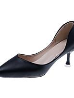 Недорогие -Жен. Обувь на каблуках На шпильке Заостренный носок Полиуретан Лето Черный / Зеленый / Белый / Для вечеринки / ужина