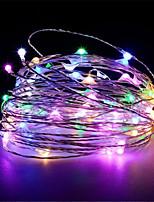 Недорогие -10 м 100 светодиодов usb питание от серебряной медной проволоки строки огни рождественская гирлянда фея праздник партия свадьба рождественские украшения огни