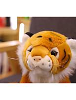 Недорогие -Tiger Мягкие и плюшевые игрушки Товары для офиса Милый утонченный 70% акрил / 30% хлопок Полиэстер / хлопок Фланель Все Игрушки Подарок 1 pcs