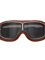 Недорогие -кожа винтажные очки скутер пилот лыжные солнцезащитные очки шлем очки кадр