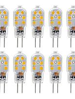 Недорогие -ZDM G4 2,5 Вт Светодиодная лампа 10 шт. светодиодные bi-pin G4 база 20 Вт замена галогенная лампа теплый белый / холодный белый ac12v