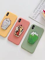 Недорогие -чехол для apple iphone xs max / iphone 8 plus пылезащитный / протекающая жидкость задняя крышка однотонный / мультяшный силикагель для iphone 7/7 plus / 8/6/6 plus / xr / x / xs
