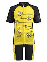 Недорогие -Nuckily Мальчики Девочки С короткими рукавами Велокофты и велошорты - Детские Черный / желтый Мультипликация Велоспорт Наборы одежды Дышащий Влагоотводящие Быстровысыхающий Анатомический дизайн