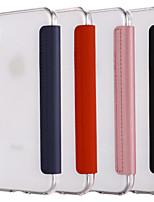 Недорогие -чехол для яблока iphone xs / iphone xr / iphone xs max / 7 8 plus / 6splus / 6s с подставкой / зеркалом / флип чехлы для тела прозрачный тпу