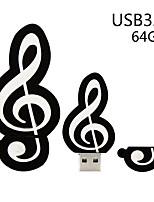 Недорогие -Майко музыкальная нота кварцевый USB 3.0 флэш-памяти хранения большого пальца и диска 64 г