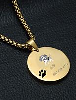 Недорогие -Персонализированные Индивидуальные Гончая Теги для домашних животных Классический Подарок Повседневные 1pcs Золотой Серебряный