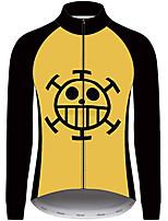 Недорогие -21Grams One Piece Муж. Длинный рукав Велокофты - Черный / желтый Велоспорт Джерси Верхняя часть Устойчивость к УФ Дышащий Влагоотводящие Виды спорта 100% полиэстер Горные велосипеды Одежда