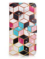 Недорогие -Кейс для Назначение SSamsung Galaxy S9 / S9 Plus / S8 Plus Кошелек / Бумажник для карт / со стендом Чехол Геометрический рисунок / Мрамор Кожа PU