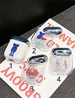 Недорогие -Кейс для Назначение AirPods Защита от удара / Покрытие / С узором Чехол для наушников Твердый