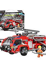 Недорогие -Конструкторы 1 pcs Транспорт совместимый Legoing моделирование Пожарная машина Все Игрушки Подарок