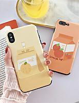 Недорогие -яблочный чехол для яблока iphone xr / iphone xs max шаблон задняя крышка еда мягкое тпу для iphone xs / iphone xr / iphone xs max / iphone 7s / 6s / 8s / 6/7 / 86plus // 7plus / 8plus / x