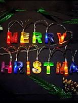 Недорогие -1.2 м с рождеством многоцветные буквы струнные огни 14 светодиодные многоцветный праздник декоративные рождественские украшения для декора для рождественской вечеринки украшения дома
