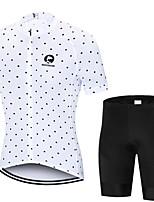 Недорогие -MAKOSHARK Горошек Муж. С короткими рукавами Велокофты и велошорты - Черный Белый Велоспорт Наборы одежды Дышащий Влагоотводящие Быстровысыхающий Виды спорта Polyster Лайкра / Продвинутый уровень
