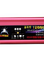 Недорогие -высокое качество автомобильный инвертор 48vand60v до 220v 1200w многофункциональный автомобильный разъем зарядное устройство / инвертор / конвертер с USB-разъемом