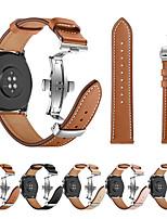 Недорогие -Ремешок для часов для Huawei Watch GT Huawei Спортивный ремешок / Бабочка Пряжка Нержавеющая сталь / Натуральная кожа Повязка на запястье