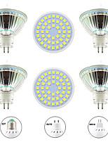 Недорогие -6шт 4 W Точечное LED освещение 400 lm GU10 MR16 E26 / E27 48 Светодиодные бусины SMD 2835 Новый дизайн Тёплый белый Белый 220-240 V 110-120 V