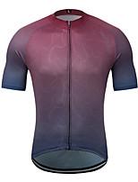 Недорогие -MUBODO Муж. С короткими рукавами Велокофты Темно-лиловый: Сплошной цвет Велоспорт Джерси Верхняя часть Дышащий Быстровысыхающий Виды спорта Терилен Горные велосипеды Шоссейные велосипеды Одежда