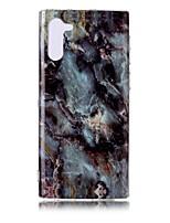 Недорогие -Кейс для Назначение SSamsung Galaxy Note 9 / Note 8 / Galaxy Note 10 Ультратонкий / С узором Кейс на заднюю панель Мрамор ТПУ