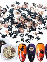 Недорогие -120 pcs 3D интерфейс / Универсальный Металлический сплав Стразы для ногтей Назначение Маникюр Летучая мышь Расклешенные маникюр Маникюр педикюр Halloween европейский