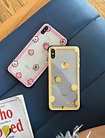 Недорогие -Кейс для Назначение Apple iPhone XS / iPhone XR / iPhone XS Max Защита от удара / С узором Кейс на заднюю панель Продукты питания / Мультипликация ТПУ
