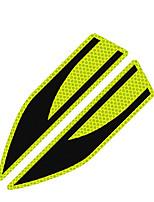 Недорогие -2 шт. / Компл. Автомобильные светоотражающие полосы безопасности ленты автомобиля бампер светоотражающие полосы безопасный отражатель наклейки