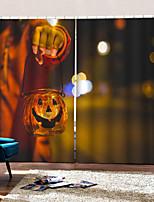Недорогие -украшения дома 3d цифровая печать шторы хэллоуин тема человек с хэллоуин подсвечник обычай род комплект занавес