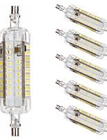 Недорогие -6шт 10 W LED лампы типа Корн Люминесцентная лампа 1000 lm R7S T 76 Светодиодные бусины SMD 2835 Новый дизайн Тёплый белый Белый 220-240 V 110-120 V