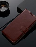 Недорогие -Кейс для Назначение Huawei Huawei P20 Бумажник для карт / Флип Чехол Однотонный ТПУ
