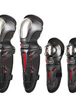 Недорогие -мотоцикл защитное снаряжение для наколенников и налокотников из нержавеющей стали регулируемая броня 4шт
