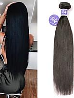 Недорогие -3 Связки Бразильские волосы Прямой Необработанные натуральные волосы 100% Remy Hair Weave Bundles Человека ткет Волосы Удлинитель Пучок волос 8-28 дюймовый Нейтральный Ткет человеческих волос